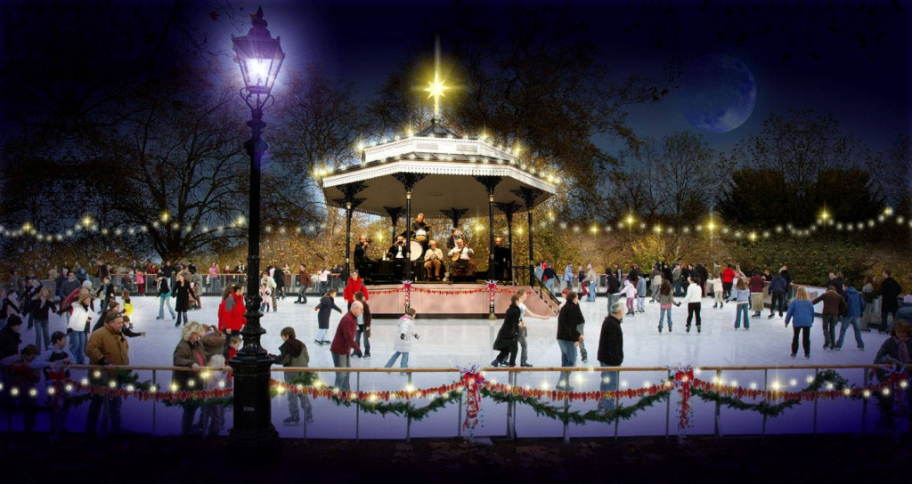 Hyde-Park-bandstand-rink-night