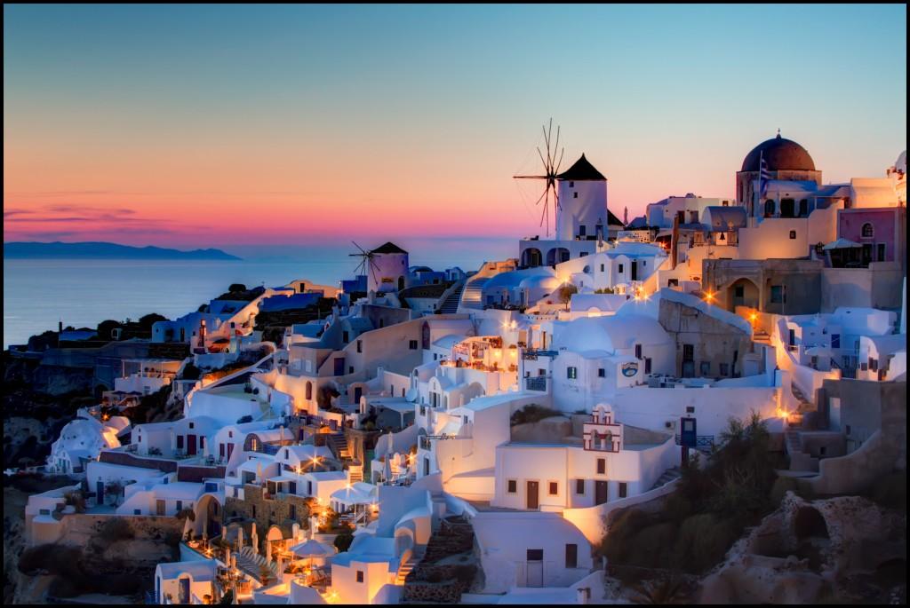 Oia-Santorini-HDR-Sunset