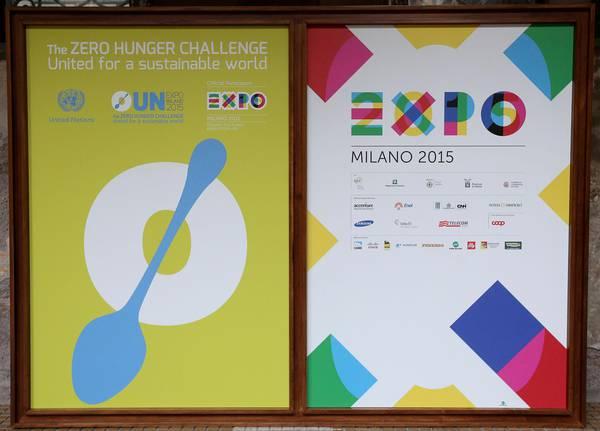 Serata per la presentazione della partecipazione delle Nazioni Unite a Expo Milano 2015, 7 maggio 2014. ANSA/ALESSANDRO DI MEO